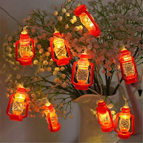 BABIFIS Rouge Chaud Blanc Lumière Chinois Lampe Au Kérosène De La Chaîne De Mariage Chambre De Vacances Décoration De Petite Lanternes LED Lumières