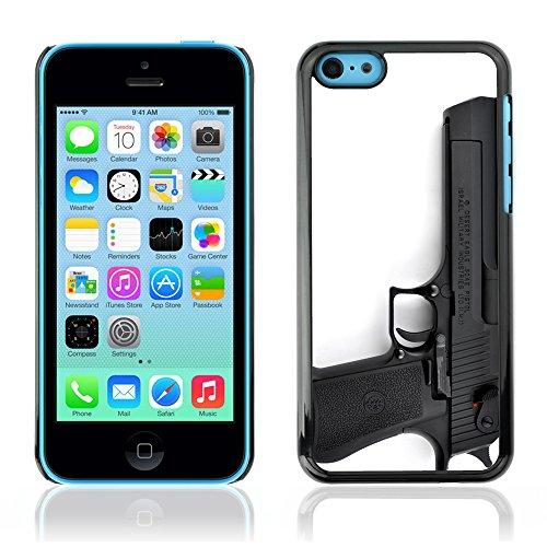 Graphic4You Silber Desert Eagle Pistole Feuerwaffe Design Harte Hülle Case Tasche Schutzhülle für Apple iPhone 5C Design #6