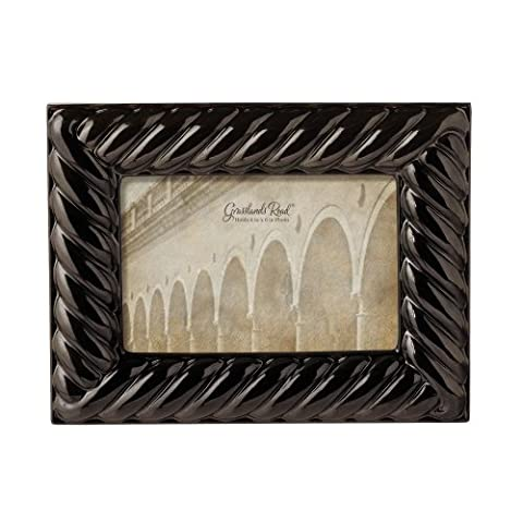 Grasslands Road Pewter Dust Large Rope Photo Frame, 4 by
