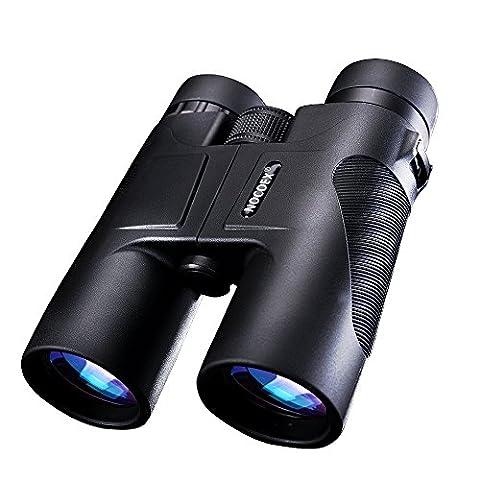 NOCOEX® 10X42 Fernglas Compact Wasserdichtes Dach Prism Binoculars - ideale Wahl für die Jagd Birding Wandern und Outdoor-Anzeigen