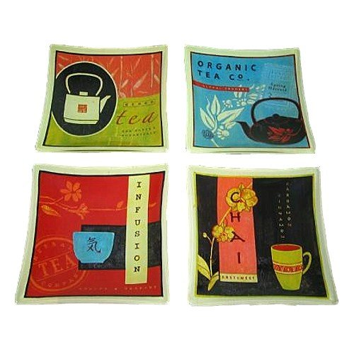 Prima Donna Classique Collection 15,2cm Quadrat Tee Teller, 4Stück -
