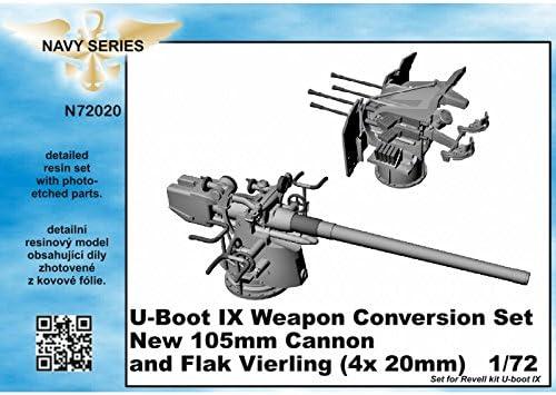 CMK® n72020 – Maquette sous-Marin IX Weapon Conversion Set Set Set new105 mm Cannon A. Flak VIERLING pour kit Revell | Belle  489337