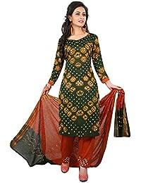 MEGHALYA Women's Satin Cotton Dress Material (V Gulty Satin Cotton Dress-4036)