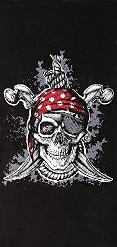 VELOURS Pirat Totenkopf 30x 60Badetuch/Strandtuch -