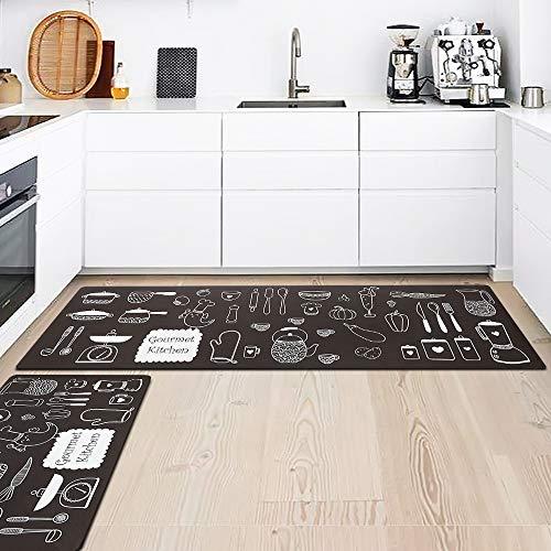 Tappeti da cucina lavabili antiscivolo,tappeti da cucina antiscivolo tappeto casa moderni modello lavabili a prova di olio resistente tappetino lunghi coperta per wc sala camera de letto decorativi