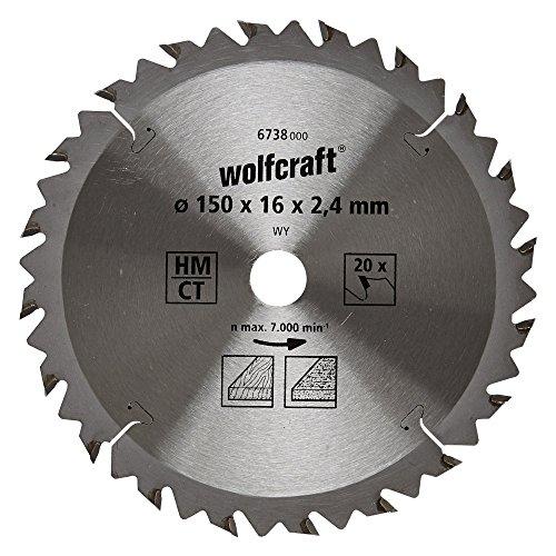 Preisvergleich Produktbild Wolfcraft 6738000 1 Kreissägeblatt HM, 20 Zähne, ø 150 mm