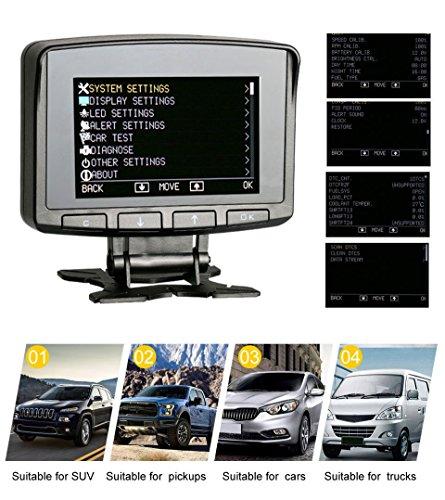 AUTOOL X50 PRO OBD2 Auto HUD con lettura flusso dati in tempo reale, scansione azzeramento codice di guasto, visualizzazione tensione batteria, supporto motore di ricarica 12V OBDII veicoli diesel