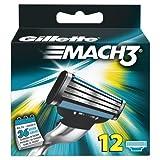 Gillette Mach3 Rasierklingen, 12 Stück