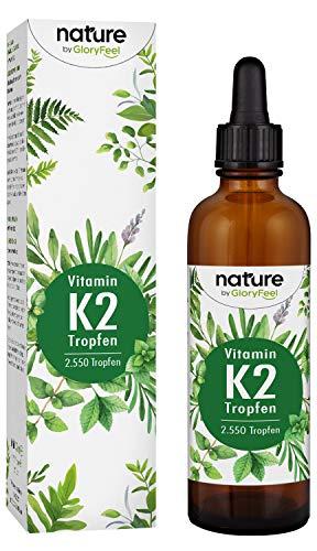Vitamin K2 MK-7 75ml 200µg - 2.550 Vegane Tropfen - 99,7% Höchster All-Trans Gehalt - Premium Gnosis VitaMK7 hoch Bioverfügbar natürlich fermentiert - Laborgeprüft hergestellt in Deutschland -