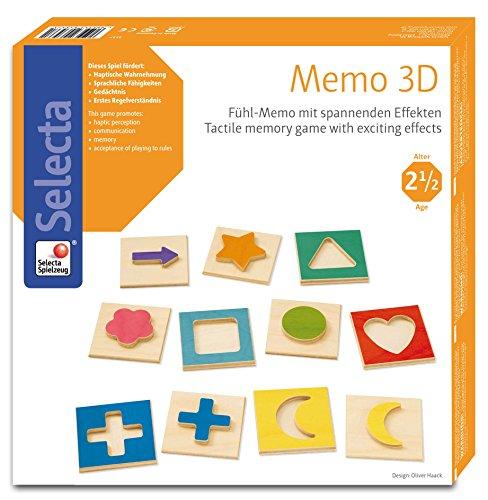 Selecta Spielzeug AG- Jeu de Mémoire 3D, 3537