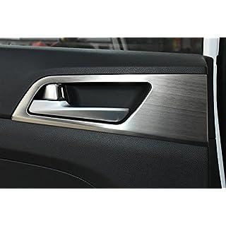 Autotürgriff Schüsseldeckel Dekor-Innenverkleidung für Hyundai Tucson 3. 2015+ 2016 Edelstahl Zubehör LHD