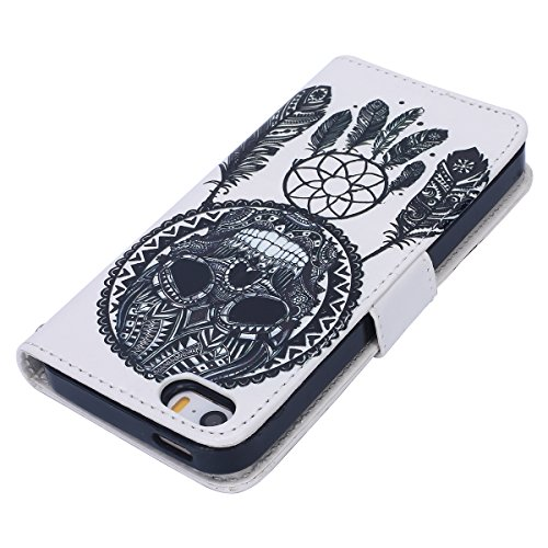 Custodia iPhone 6 Plus/iPhone 6s Plus (5.5), EUWLY Flip Cover Leather Wallet Case Custodia per iPhone 6 Plus/iPhone 6s Plus (5.5) in PU Pelle, Bling Bling Custodia Cover con Ultra Sottile Interno Si Campanula Dream Catcher