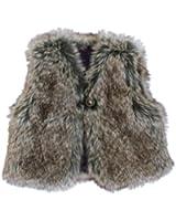 3Pommes Baby Girl's Faux Fur Gilet