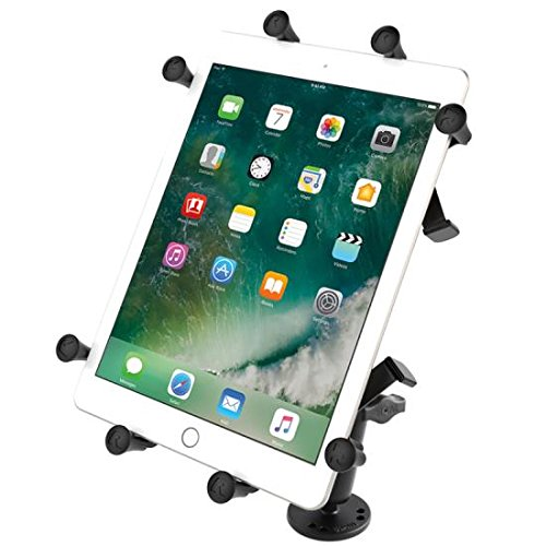 Ram Mounts Flat Surface Mount with Long Double Socket Arm, RAM-B-101-C-UN9U (with Long Double Socket Arm and Universal X-Grip Cradle for 10# Large Tablets) Flat Surface Mount-ram
