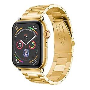 Wawer Apple Watch Series 4 Armband Hochwertiger Edelstahl Uhrenarmband Ersatz Bügel für Apple Watch Series 4 40mm / 44mm
