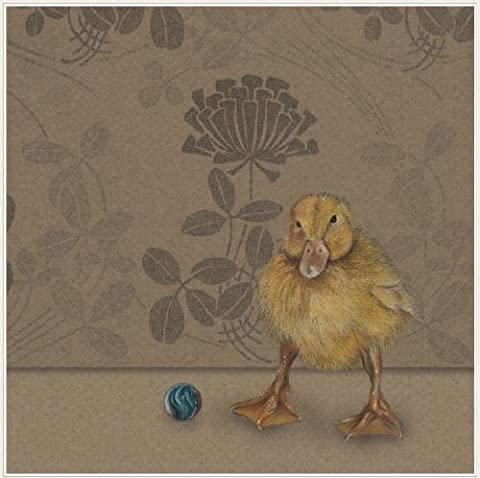Yellow Duckling BLANK baby Duck Greeting Card
