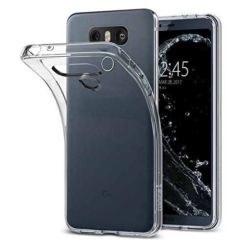 Cover lg g6, spigen [clear ultra sottile silicone gel] liquid crystal **estremamente sottile & puro trasparente** premium tpu silicone case - custodia cover lg g6, custodia lg g6, g6 cover - (a21cs21229)