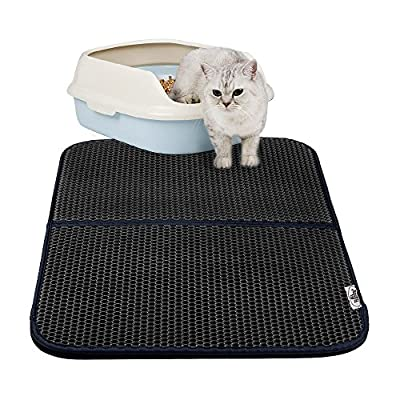 Cat Litter Mat Kitty Litter Trapper Mat, Foldable Waterproof Double-Layer Honeycomb Pad - Protect Floor and Carpet, Easy Clean Hole Mat