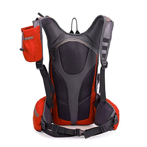 TXJ Wandern Klettern Rucksack Ultraleichte Wasserdichte Outdoor Wanderrucksäcke Radfahren Reiten Reisetaschen, 45 x 25 x 20 cm, 25L (Schwarz) Orange
