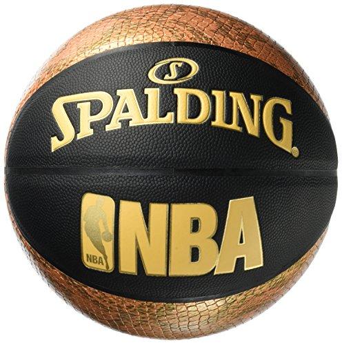 Spalding NBA Snake 76-039Z Balón de Baloncesto, Unisex, Negro / Dorado, 7