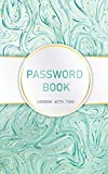 "Password Book Logbook with Tabs: Internet password organizer, alphabetical password notebook, password book small 5"" x 8"""