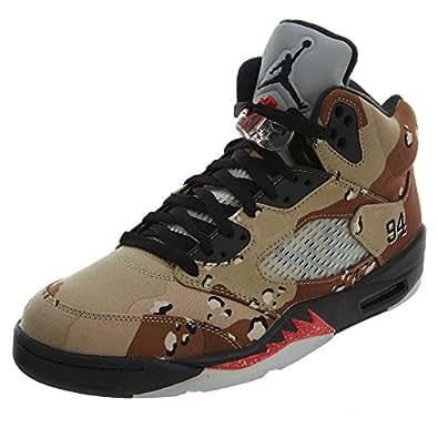 more photos c3766 13571 Bild nicht verfügbar. Keine Abbildung vorhanden für. Farbe  Nike Herren Air  Jordan 5 Retro Supreme Turnschuhe, Braun Grau (Bambus Schwarz-
