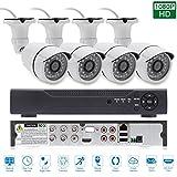 edssz 4Canales 1080P AHD DVR CVI tvi HDMI VGA P2P Wolke Red ONVIF, detección de movimiento, alarma de correo electrónico, QR Code Scan rápida Remote PTZ CCTV Vigilancia