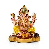 #9: Collectible India Lord Ganesha Idols For Car Dashboard Statue | Ganpati Car Decor Sculpture