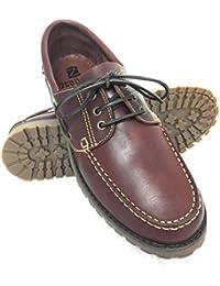 Zapato para caballeros náutico de piel con suela de goma flexible100% Piel de primera calidad Tallas grandes XXL de la 46 a 50 Color tan