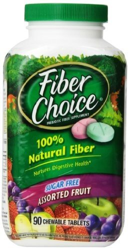 Fiber Choice Sugar Free, Assorted Fruit, 90 Chewable Tablets by Fiber...