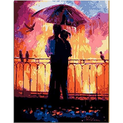 CHUDU Liebhaber Unter In Regen Romantik Datum Puzzle 1000 Teile Für Erwachsene Aus Holz Tragbare Rollbare Schöne Herausforderung Geschenk DIY Dekor (Ein Sie Datum Wählen Puzzle)
