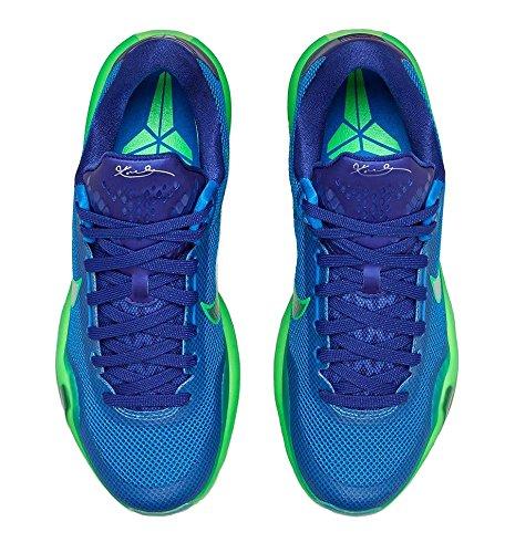 Nike Kobe X, Chaussures de Sport-Basketball Homme blue green silver