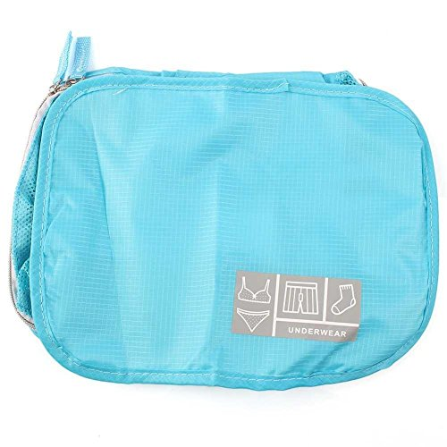 Yu Ye Cosmetic Bags Style Storage Travel Portable Underwear Cases Bra Organizer New Blue Medium