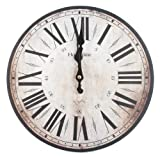 30cm Hometime Wall Clock Stratford Cream Red