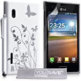 Yousave Accessories lg-fa01-z081p Cover Stück + Stylus + Displayschutzfolie für LG Optimus L5E610