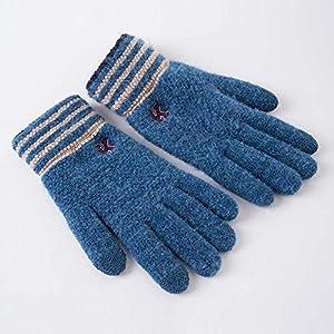 Unbekannt XIAOYAN Handschuhe Damen Handschuhe Handgelenk Länge Fingerspitzen, Pure Zubehör Winter Handschuhe Winddicht warm halten Bequem