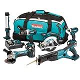 Makita DLX6000M 18V LXT 6 tlg. Akku Werkzeugset incl. Tasche & 3 x Akku 4,0Ah