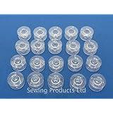 Lot de 25bobines pour machine à coudre compatibles Singer/Brother/Janome/Toyota Transparent