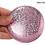 15ml vacía redonda Fundación maquillaje polvo puff caja caso envase compacto con espejo oro rosa