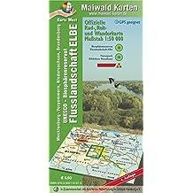 Elbetal West = Offizielle Rad-, Reit u. Wanderkarte - UNESCO - Biosphärenreservat Flusslandschaft Elbe - Karte West: Maßstab 1:50.000 - GPS geeignet - - Maßstab 1:50.000 - GPS geeignet