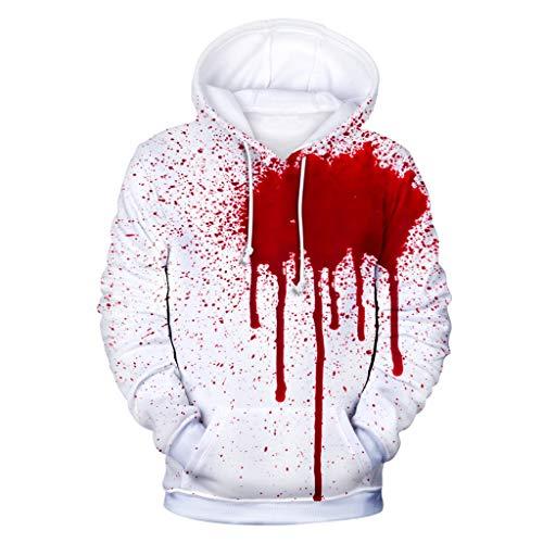 ex Halloween Kapuzenpullover Sweatshirt für Herren und Damen, 3D-Druck Langarm Hoodie Langarmshirt Oberteile Kapuzen Bluse Tops ()