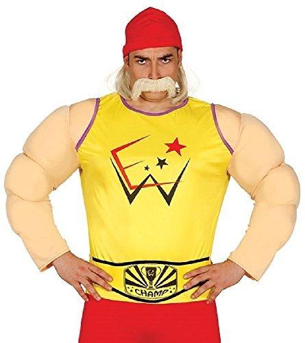(Herren Wrestler Sport Fest Junggesellenabschied Do Carnival Halloween 90er Jahre Prominent Berühmt Person Kostüm Kleid Outfit Groß)