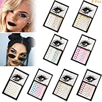 Face Gems - Rhinestone Face Stickers Bindi Crystals Festival Face Jewels Face Gems Glitter Temporary Tattoos for Eyes Face Body Stickers,DIY Party Make-Up Rhinestone(8 Pcs)