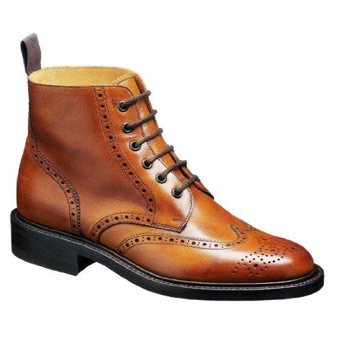 Barker Mens Harrison Leather Boots Cedar Calf