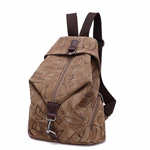 studente di borsa, signore borsa vintage zaino, femmina una borsa di tela, personalità,grigio chiaro brown