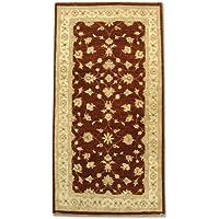 Agra Runner-Tappeto fatto a mano in lana, colore: rosso, 99