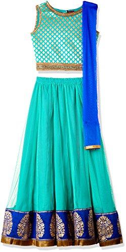 TWISHA Girls' Regular Fit Ghagra Choli (AW17-XP-GCH143-10y_Blue)