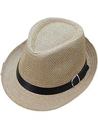 Alessioy Sombrero Damas Y Caballeros con Panamá El Sombrero para Tejiendo  Estilo único Sol con Protector Solar… ef2955cfb434