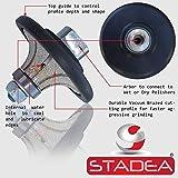 3/4″ Granite bullnose Profile Wheel Edges – Half Radius Demi B20 for Marble Stone Profile Grinding by STADEA