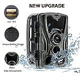 Caméra de Chasse 16MP 1080P HD avec 36 IR Capteurs à 940nm LED Infrarouges Angle...